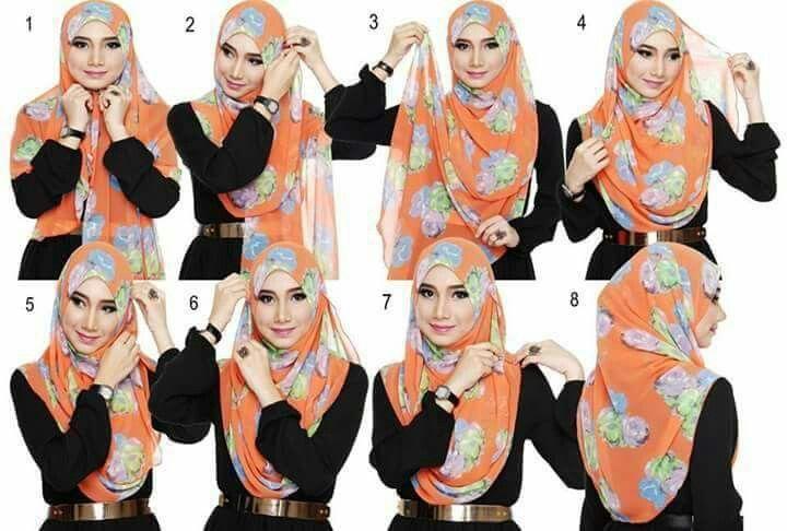 Flower hijab tutorial
