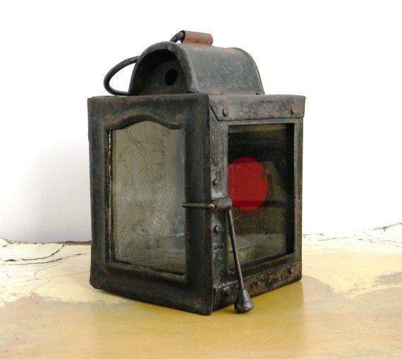 Vintage Railroad Lantern Late 1800s Lead Car Tack