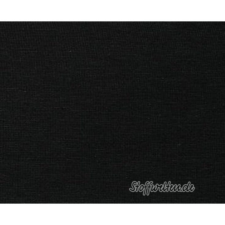 Uni JERSEY - STARLINE - SCHWARZ, ÖKOTEX, 160cm breit
