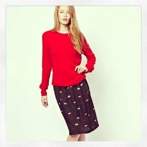 New in at Asos.com! #sisbyspijkersenspijkers #spijkersenspijkers #style #fashion #eyeprint #skirt #girl #cute