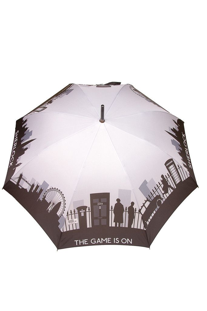 Grey Sherlock Skyline Umbrella - Official Sherlock Merchandise: SHUT UP AND TAKE MY MONEY.