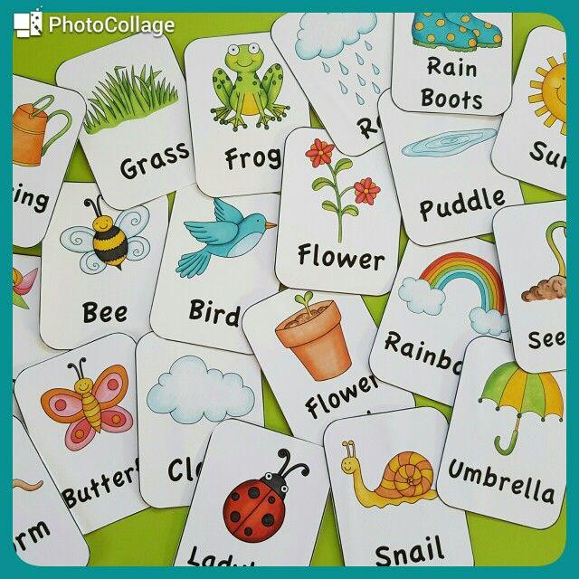 Spring flashcards :)  https://www.teacherspayteachers.com/Product/Spring-Literacy-Worksheets-2468682
