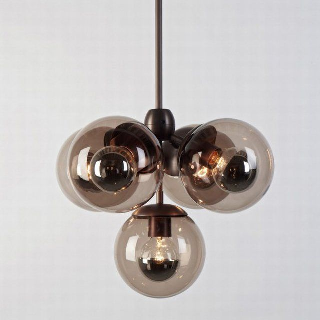 Modo Pendant Black, Smoked Suspension Lamp By Jason Miller For Roll U0026 Hill