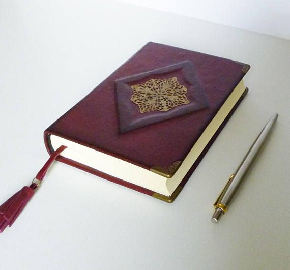 Leather Journal Notebook Burgundy Diary Birthday Gift for