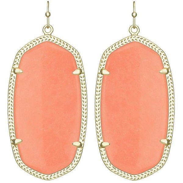 Danielle Earrings in Coral (200 BRL) ❤ liked on Polyvore featuring jewelry, earrings, summer earrings, coral earrings, earrings jewellery, coral jewelry and earring jewelry