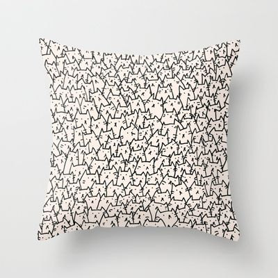 A Lot of Cats Throw Pillow by Kitten Rain - $20.00. http://society6.com/product/A-Lot-of-Cats_Pillow