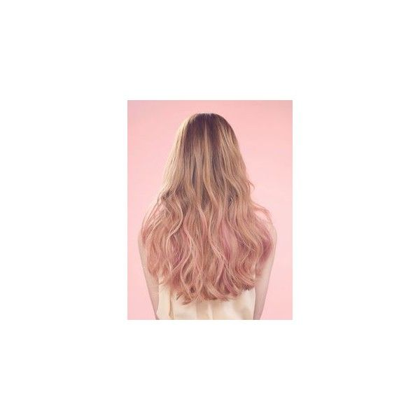 "Ashley A. on Instagram: ""Loving these pastel pink peekaboo's ? #hair... ❤ liked on Polyvore featuring beauty products and haircare"