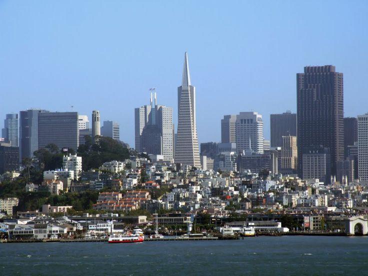 photo from Alcatraz ferry of San Francisco
