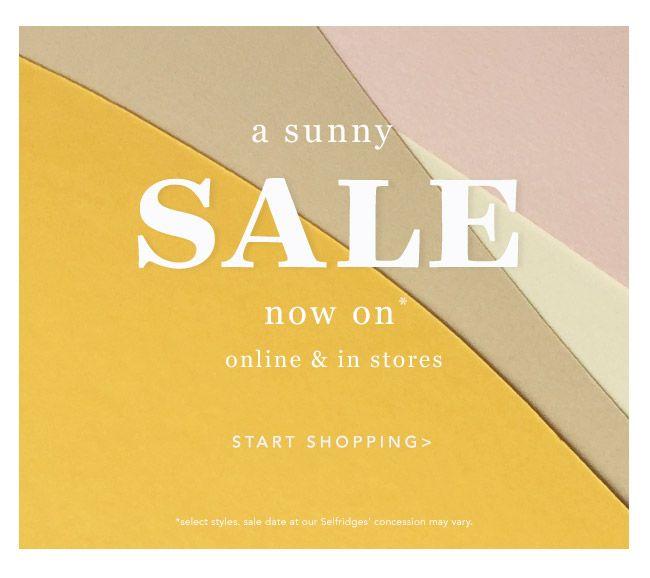 A sunny SALE: your exclusive sneak peek.