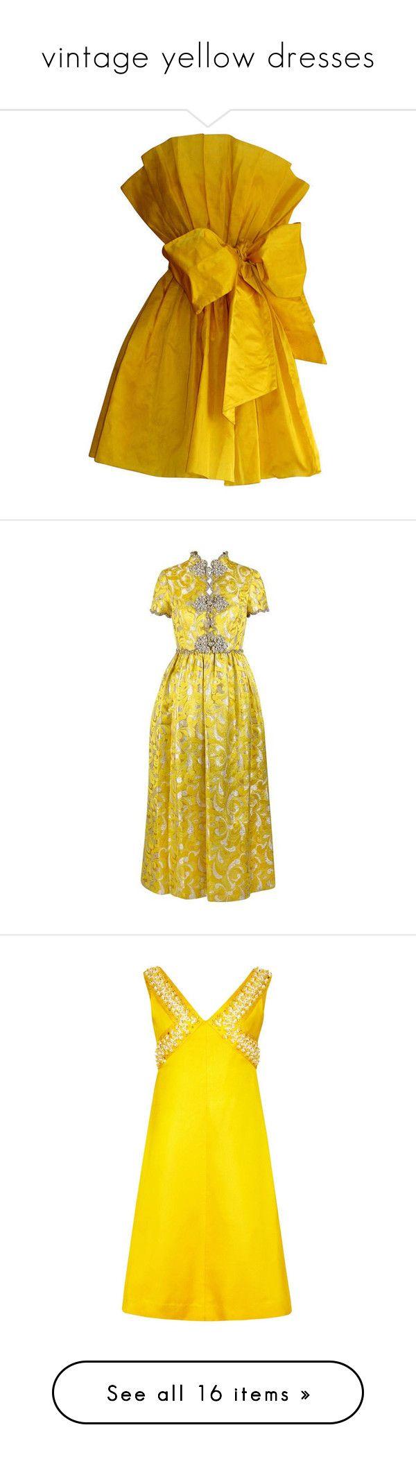 Vintage yellow dresses