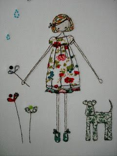 Supercutetilly Beautiful free motion embroidery here