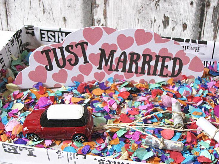 Idee 1: Hochzeitsgeldgeschenke – Blechdosen für´s Brautauto - Anleitung