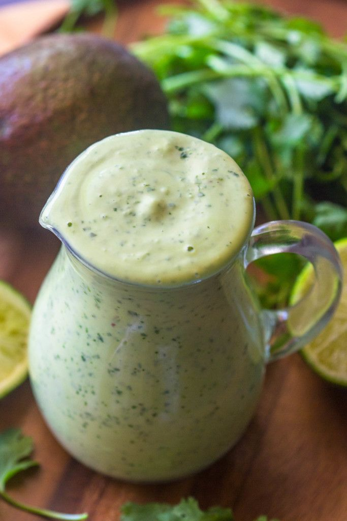 Healthy Creamy Avocado Cilantro Lime Dressing | Gimme Delicious