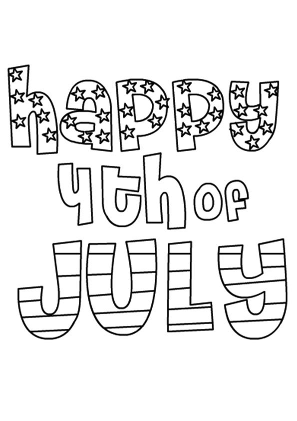 Print Coloring Image 4th Of July Coloring Pages Free Printable 4th Of July Coloring Pages For Kids For 4th July Colors Fourth Of July Quotes Happy 4 Of July