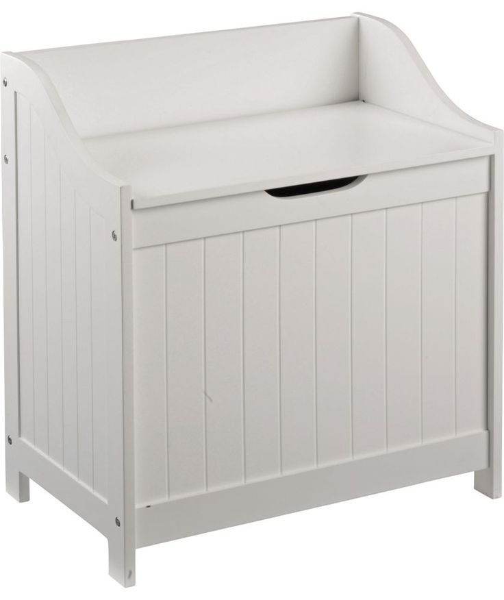 Buy HOME Monks Bench Style Laundry Box - White at Argos.co.uk - Your Online Shop for Linen baskets and laundry bins, Linen baskets and laundry bins.