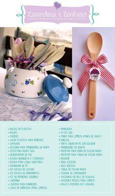 O que pedir no chá de cozinha? Essas são algumas dicas, mas a lista completa você encontra no blog (clique na imagem para acessar!)