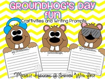 This mini packet includes 3 different versions of the Groundhogs Day craft. Each craftivity includes a writing prompt in both primary and secondary lines as well as a full page and half page.  Option #1: {Groundhog Craftivity} after discussing facts about groundhogs, your students could complete the groundhog craft and use the Groundhogs writing prompt.