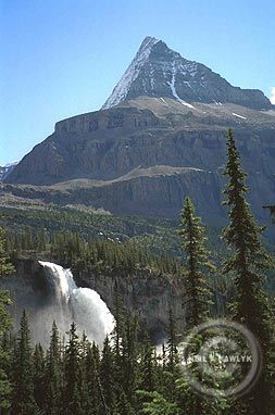 Emperor Falls and Mount Robson from the Berg Lake trail