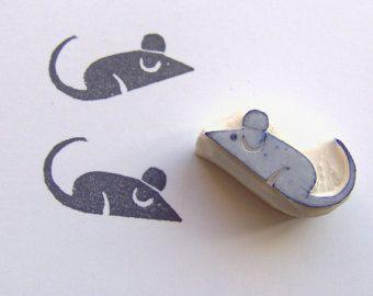 Timbro di gomma di Topolino, timbro di gomma di topi, timbro di ratto, bricolage, timbro animale, stampaggio, scrapbooking, fabbricazione di carta, avvolgimento, mouse