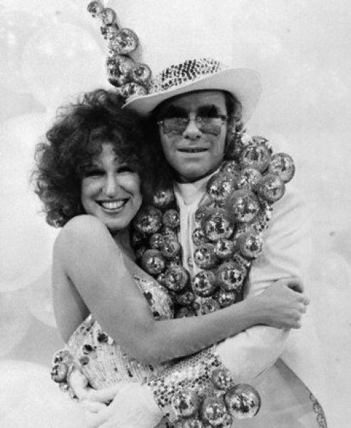 Beth Midler & Elton John. Royalty.