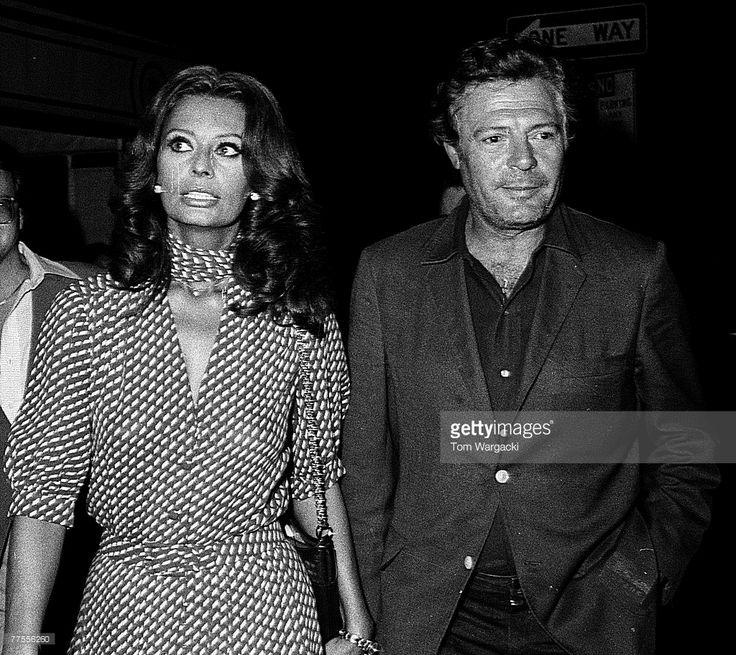 Sophia Loren and Marcello Mastroianni