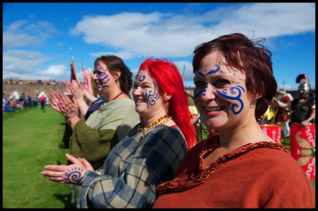 Pict Tattoos: Pictish Re-enactors At The Celebration Of The Centuries At