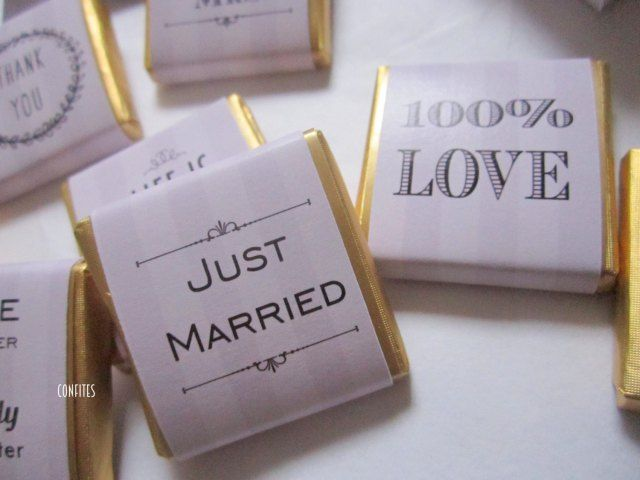 Personalised Chocolates Wedding Favours Dusty retro grey stripes candy bar