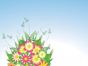 Flower Powerpoint Background Idas Ponderresearch Co