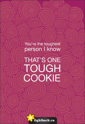 one tough cookie daffodilmonth canadian cancer society notes of encouragement pinterest. Black Bedroom Furniture Sets. Home Design Ideas