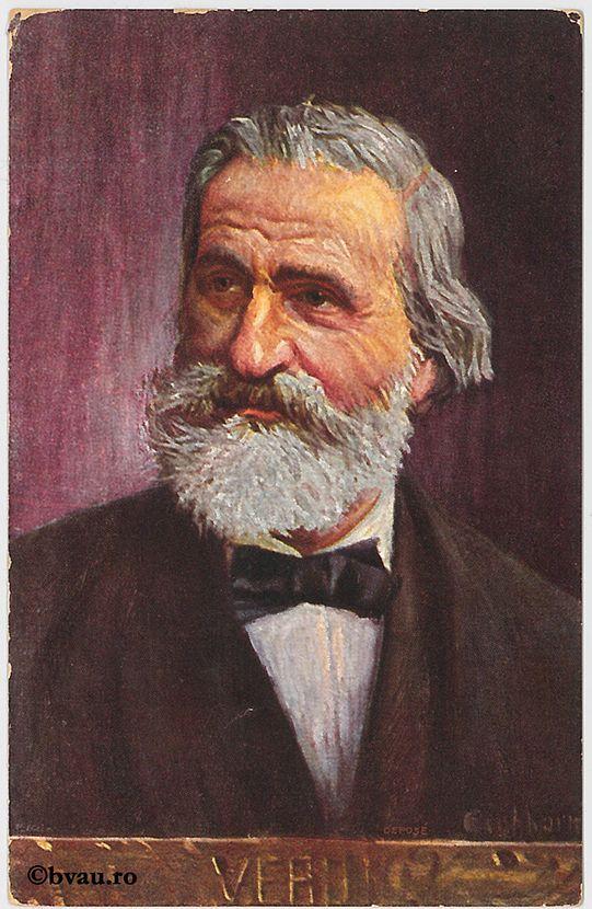 """Giuseppe Verdi. Imagine din colecțiile Bibliotecii """"V.A. Urechia"""" Galați."""