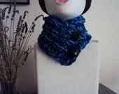 écharpe, cache col, snood ouvert grosses mailles : Echarpe, foulard, cravate par laboitealainederose