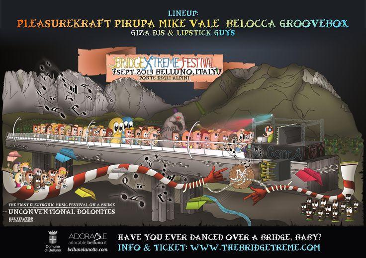 Bridge Xtreme Festival - Electronic Music Festivals | Festival Advisor ( illustration by Alessio Zandanel )
