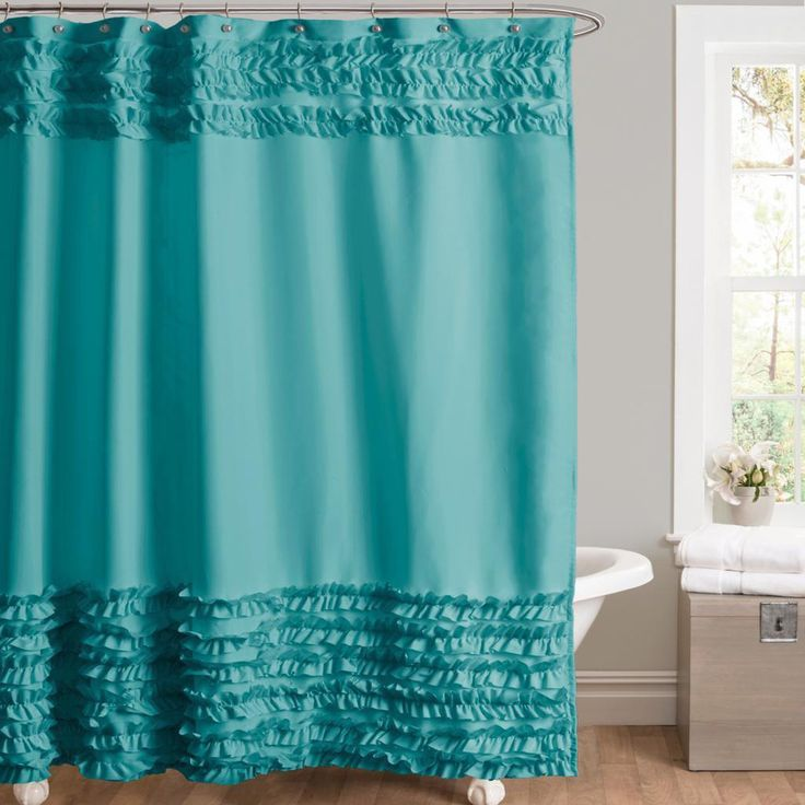 Lush Decor Skye Turquoise Shower Curtain | Overstock™ Shopping - Great Deals on Lush Decor Shower Curtains
