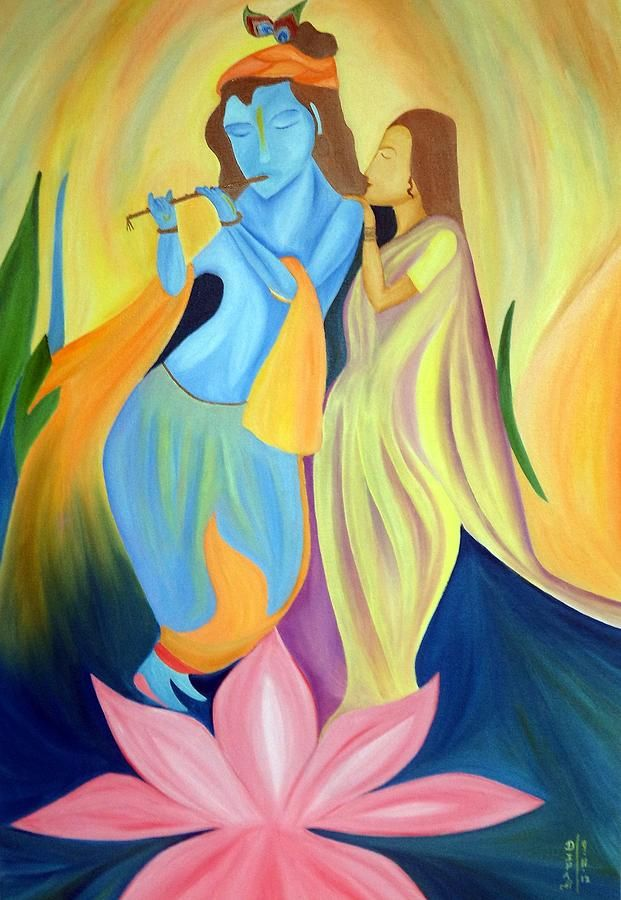 Radha-krishna -a Divine Love | Art, Love and Fine art