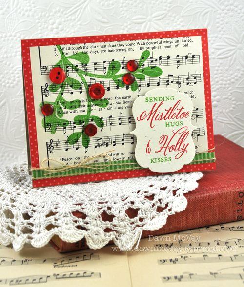 Mistletoe & Holly Card by Dawn McVey for Papertrey Ink (September 2012)