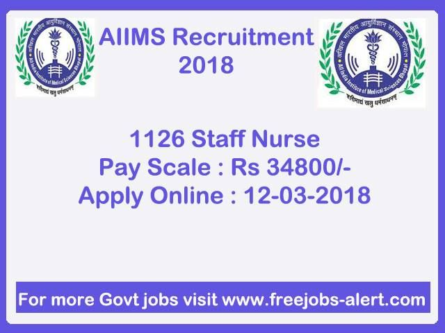 AIIMS Bhopal Recruitment 2018 .  AIIMS Bhopal Saket Nagar, Bhopal - 462020 (MP) invites online application for the recruitment of 700 Senior Nursing Officer & Nursing Officer Vacancies .The employment details about the posts, age limit, educational  qualification,  experience and other conditions are given below as link. The candidates are  requested to go through the details and ensure that they fulfill the minimum prescribed  criteria before applying.  Apply on or before 06-03-2018