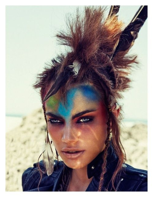 Makeup Post Youtube: Post-Apocalyptic Fashion OMG LOOK AT THAT HAIR AND MAKEUP
