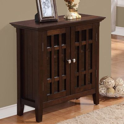 Simpli Home Bedford Low Storage Media Cabinet