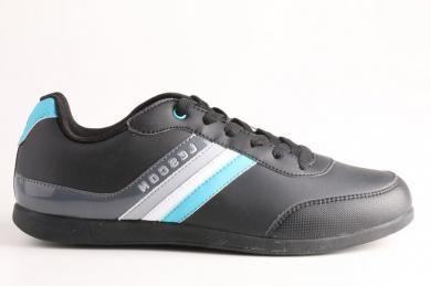 Lescon - Erkek Phylon Tabanlı Mikrofiber özellikli Siyah Spor Ayakkabı