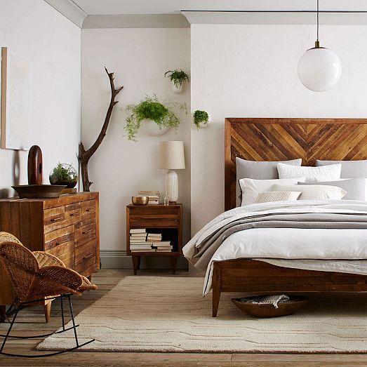 Alexa Reclaimed Wood 7-Drawer Dresser – Honey   – Room decor