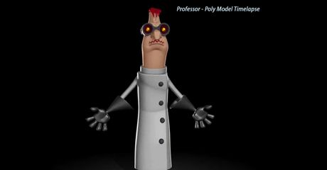 Professor based on concept art from the Sydney company Games Lab by andrew silke.