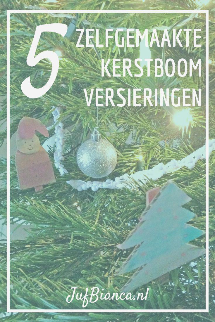 Zo, Sint is het land weer uit, tijd voor de laatste feesttijd tot de kerstvakantie. In veel klaslokalen komt de komende weken een kerstboom te staan. Het is zo leuk om de boom eens te versieren met versieringen die door de kinderen zelfgemaakt zijn.Ik heb 5 ideeën voor je verzameld!