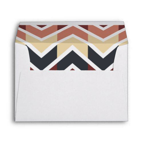 Geometric Designs Color Wine, Teal, Beige, Salmon Envelope