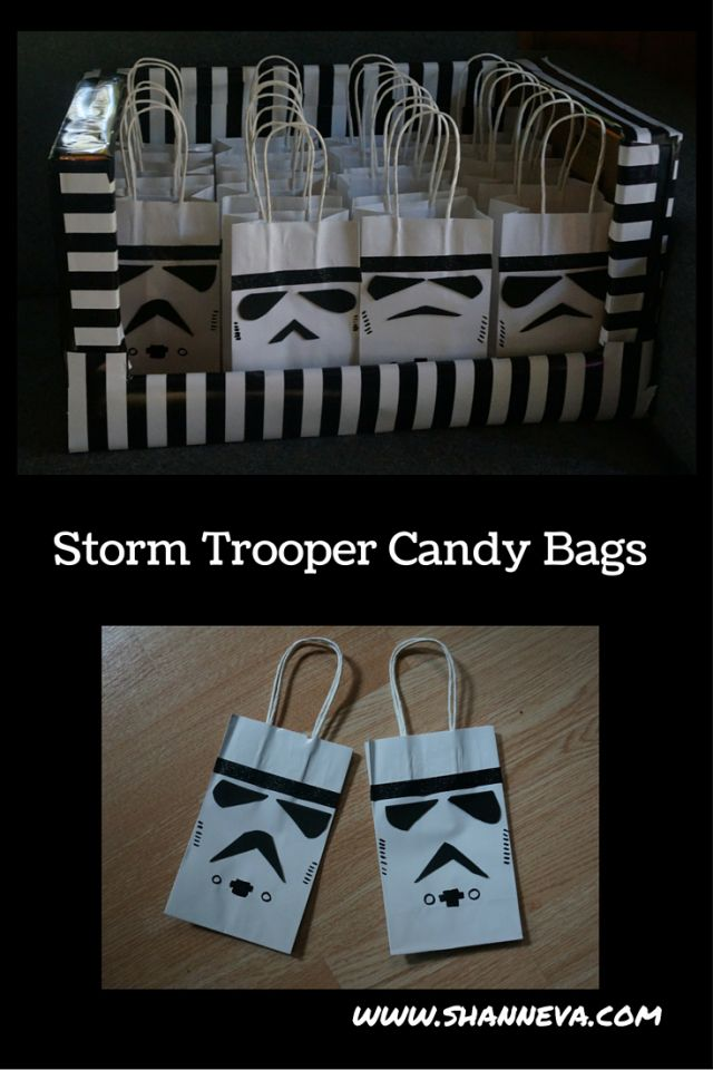 DIY Star Wars Storm Trooper Inspired Party Bags - Shann Eva's Blog