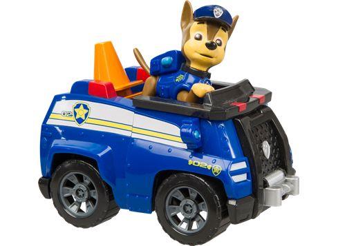 PAW PATROL fordon med hundvalp Chase med polisbil