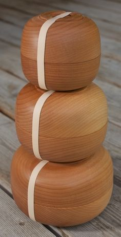 bento bowls - perfect for lunches. By Cranewalk woodworkers. Made in Montana.