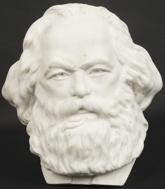 Bust Carl Marx. State Porcelain factory. Author - V.V.Kuznetsov. 1918. Bisque. Height 19 cm. Kuznetsov Vasiliy Vasilievitch (1881-1923) studied at Academy of Art, in 1914-1919 were chief of sculpture department of Imperial -State Porcelain Factory. Author of famous sculpture groups, teacher of N.Y.Danko.