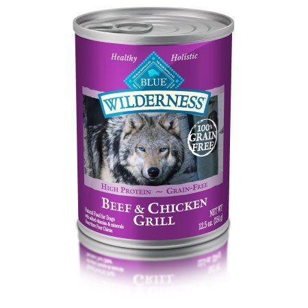 BLUE Wilderness High Protein Grain-Free Adult Wet Dog Food Beef & Chicken  Grill 12.5