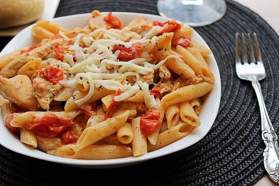 Grilled Chicken Penne al Fresco from BigBearsWife.com. Bean pot receipe