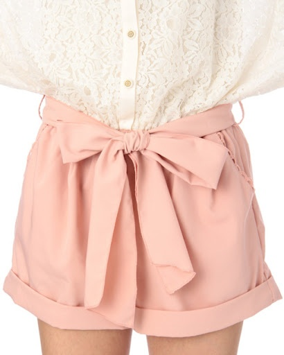 Bow shorts because the cuteness never stops.